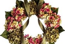 Blended Hydrangea Wreaths / Blended Hydrangea Wreaths for All Seasons. Handmade with artificial hydrangea flowers by HomeHearthGarden.Etsy.Com