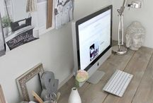 Home - Office Decor / Planning office decor, desks, pictures etc.