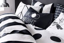 Black White & Gold Bedroom / Home decor bedroom ideas with black and white with a hint of gold.