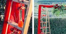 <<Ideas boda Rojo>> / Detalles y decoración de Bodas con el color rojo como predominante