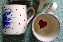 Pottery / Examples of pots you can paint at our studio, and pots already painted by our crafty customers! :D