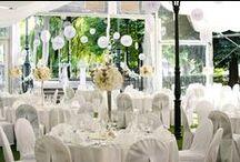 White fan wedding