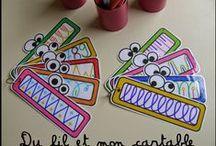 Ecole : écriture, graphisme, découpage et modelage
