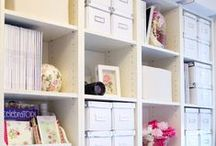 Scrapbooking Room / Scrapbooking spaces and organizational ideas.  Along with some sighing and dreaming of a bigger room.