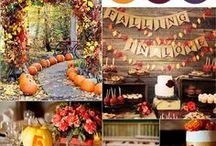 Fall Wedding Ideas / Warm & unusual colour palettes, pumpkins galore, decadent flower arrangements, golden foliage, romantic candlelight, autumn settings and everything Fall!