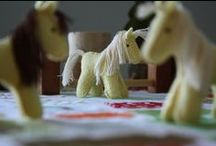 Wool Ponies / Hand sewn ponies, made of wool felt, from The Wool Food Mama.