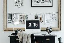 Inspiration   Bureau / Des oeuvres et des idées déco pour les agencer. De quoi ravir votre bureau !