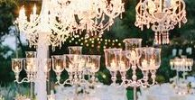 Let there be Light! / Tips and Inspiration to light up your wedding and create the right atmosphere: candles, chandeliers, fairy lights, hanging lanterns, festoon lights and more.