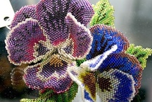 Beaded flowers / by Mary Mitchell