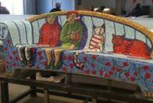 mosaic street furniture/ mobilairio urbano mosaico