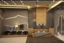Lobby Design / Interior design by Gonye Tasarim