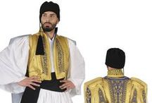 Hellenic Traditional Costumes | Tsolias & Evzonas / Tsolia Greek Costumes a large collection of the Fustanela type attire, from the fashion of 18th to the 20th century: EUZONAS GOLD EMBROID,TSOLIAS BOY BLUE ,ARAHOVA ROUMELI MAN ,EUZONAS EMBROIDERED, FUSTANELA.