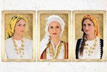 Hellenic Traditional Accessories / Folk scarfs, traditional aprons, tsarouchia, belts, jewels of greek traditional attire.  | Μαντήλια, Ελληνικές παραδοσιακές ποδιές, τσαρούχια, πόρπες και ζώνες που ολοκληρώνουν την Ελληνική παραδοσιακή ενδυμασία.  #Greece #Greek_tradition #Scarf #Apron #Folk #Embroidery #European_fashion #folk_art