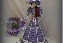 Papierové bábiky / Bábiky z papierového prútia