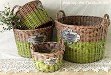 Košíky a iné dekorácie / A zase motalinky z papiera