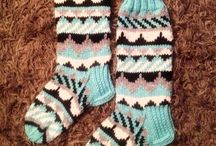 My knitted socks / Selfmade woolsocks
