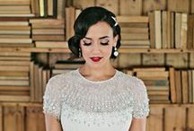 Vintage Glamour at Homestead Manor / A glamorous, early 20th century, Great Gatsby loving style shoot at Homestead Manor in Thompson's Station, TN!  Photos: Kristyn Hogan | Venue: Homestead Manor | Styling: The Bride Room | Hair: Leslie Ellis | Makeup: Meg Boes | Floral: Amanda Jerkins Design