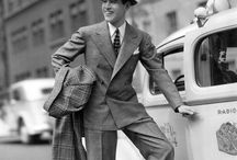1930's - 40's fashion / 1930-1940 man and woman wears