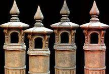 Chimney pots - Chimney tops - Comignoli - Pot de cheminée