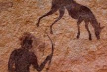 PREHISTORIC ART - Rock Paintings - Pictograph / In archaeology, rock art is human-made markings placed on natural stone; it is also largely synonymous with parietal art. A global phenomenon, rock art is found in many different regions of the world, having been produced in many different contexts throughout human history, although the majority of rock art that has been ethnographically recorded has been produced as a part of ritual.