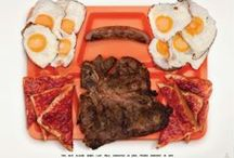 PHOTOGRAPHY - James Reynolds / A Photographer Captures The Last Meals Of Wrongfully. Executed Inmates. Part of a larger campaign that uses food to change minds. Amnesty International Puerto Rico has fronted a campaign for the exoneration of Death Row inmates by displaying food requested by the wrongfully accused before their deaths. Here were their last meals, photographed by James Reynolds.  Tray orange = innocent