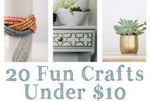 {EASY DIY & Craft Ideas} / Anything DIY Or Artsy That Looks Easy And Fun To Do.