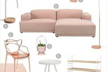 Shop This Look: Blush Pink Interiors / Want to achieve a soft yet glamorous interior? Fresh pastel palette combined with copper and white ash wood can do the trick. Here's a few shopping selections to fill up your ideabook.