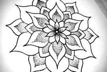 Mandaly, kreslení