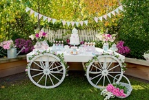 candy bar & table food & confetti