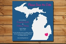 Made in Michigan Weddings / Wedding items handmade here in the Mitten State by Etsy crafters! Almost everything you see can be customized and the sellers are excited to work with you :) Let's put $ back in the small business economy Michigan Brides & Grooms!