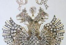 crowns and  Imperial jewels, Romanov's gowns
