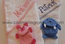 The New Baby / Adorable monogrammed baby gifts!