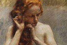 redhead in art