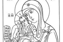 icon painting, lessons, tracing