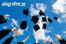 Doktorhüte / Collegehüte / Doktorhut, Collegehut, Mortarboard, Abschlusshut - individuell bedrucken mit Abi Motto oder Abisprüchen bei www.abigrafen.de / by abigrafen.de