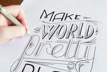 Lettering / I really want to get back into lettering and typography. Here is some awesome inspiration.
