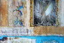 My own personal repurposed Mixed Media Artwork / Paints, fabrics, metals and various other materials