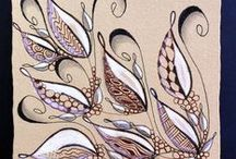 Zentangle / How to draw Zentangle patterns