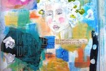 AUGUST ART JOURNALING / Mixed Media from the heart...