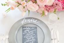Tablescapes / Wedding signage and menus
