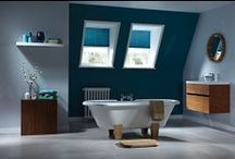 Bathroom Inspiration / Blinds to complement the bathroom