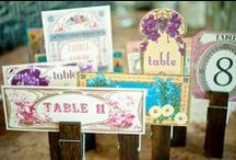 Wedding:  Seating & Table Numbers