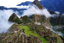 Machu Picchu, Peru. / Y trilha inca, y lhamas, y Cuzco, y Lima...