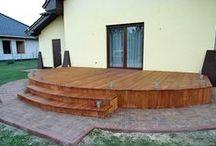Taras drewniany z modrzewia. Realizacja w Żaganiu / Taras drewniany z modrzewia. Realizacja w Żaganiu