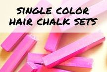 Single Color Hair Chalk Sets / Satisfy your rainbow love with these single color hair chalks!