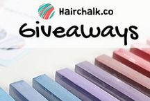Hair Chalk Giveaways / Join our cool giveaways for the chance to win awesome prizes!