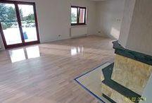 Parkiet drewniany. Realizacja podłogi drewnianej w Ochli koło Zielonej Góry. / Parkiet drewniany. Realizacja podłogi drewnianej w Ochli koło Zielonej Góry.