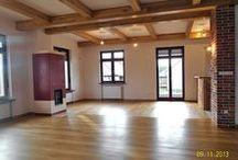 Realizacja podłogi drewnianej w Lubinie. / Parkiet drewniany. Realizacja podłogi drewnianej w Lubinie.