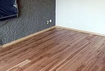 Parkiet drewniany - Jesion Rustical.  Realizacja podłogi drewnianej w Zielonej Górze. / Parkiet drewniany - Jesion Rustical.  Realizacja podłogi drewnianej w Zielonej Górze.