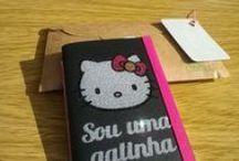 Amo Purpurina / Caderninhos feitos com Purpurina - Love glitter  Notebooks made with Glitter, handmade couture - with my Silhouette machine.